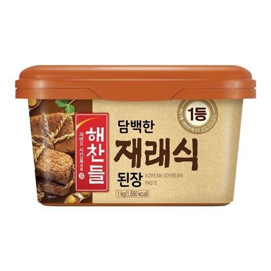 韓国食品 5☆大好評 韓国料理 オモニの味 デンジャン 豆 輸入 CJ チャングム 味噌1kg 正規激安 納豆 ダイエット食品 ヘチャンドル 韓国味噌 健康食品