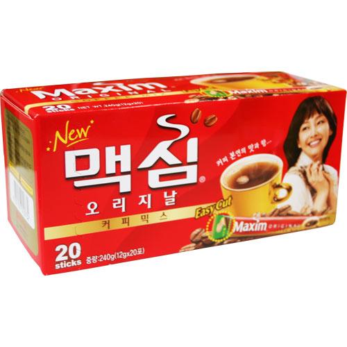 韓国食品 輸入 コーヒー専門 コーヒー豆 韓国食材 韓国料理 キャラメル ブラウニー サンドイッチ マクシム オリジナルコーヒーRED12gX20個 入荷予定 全品最安値に挑戦 韓国コーヒー Maxim パン マキシム