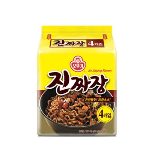 韓国食品 代引き不可 一番安い 韓国ラーメン ジャジャン麺 韓国食材 大人気 ラーメン 本物 インスタントラーメン オットギ 韓国大人気ラーメン 135gx4個 ジンジャジャン 眞ジャジャン麺 9月中旬入荷待ち らーめん
