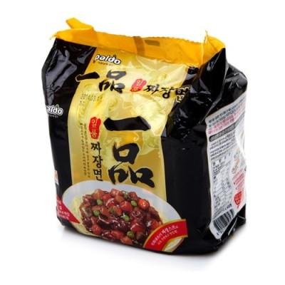 韓国食品 韓国ラーメン 完売 韓国食材 物品 大人気ラーメン らーめん PALDO 一品チャジャン麺200g×4個 インスタントラーメン 日本語版