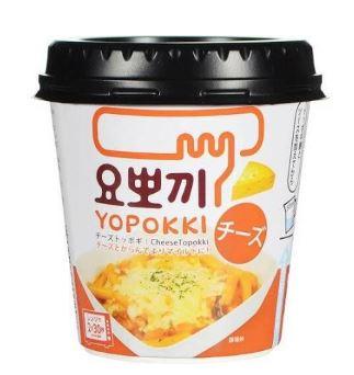 韓国食品 韓国料理 『4年保証』 韓国食材 トッポキ ヨッポギ ヨッポキ YOPOKKI チーズトッポキ 120g カップトッポキ 即席トッポキ ヘテ 簡単トッポキ 簡単調理 甘辛トッポキ チーズ味 買い物
