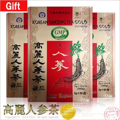 【韓国特産品】★GIFT用としても最適!★高麗人参茶(紙箱)3g X 100包 ■10 BOX ■