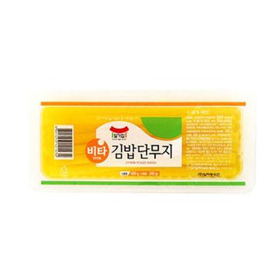 ■皮もないので歯切れが良い■韓国食材 定価 現品 海苔巻き用素材 たくあん 宗家 のり巻き用 400g 海苔巻き用 冷蔵 皮もないので歯切れが良い