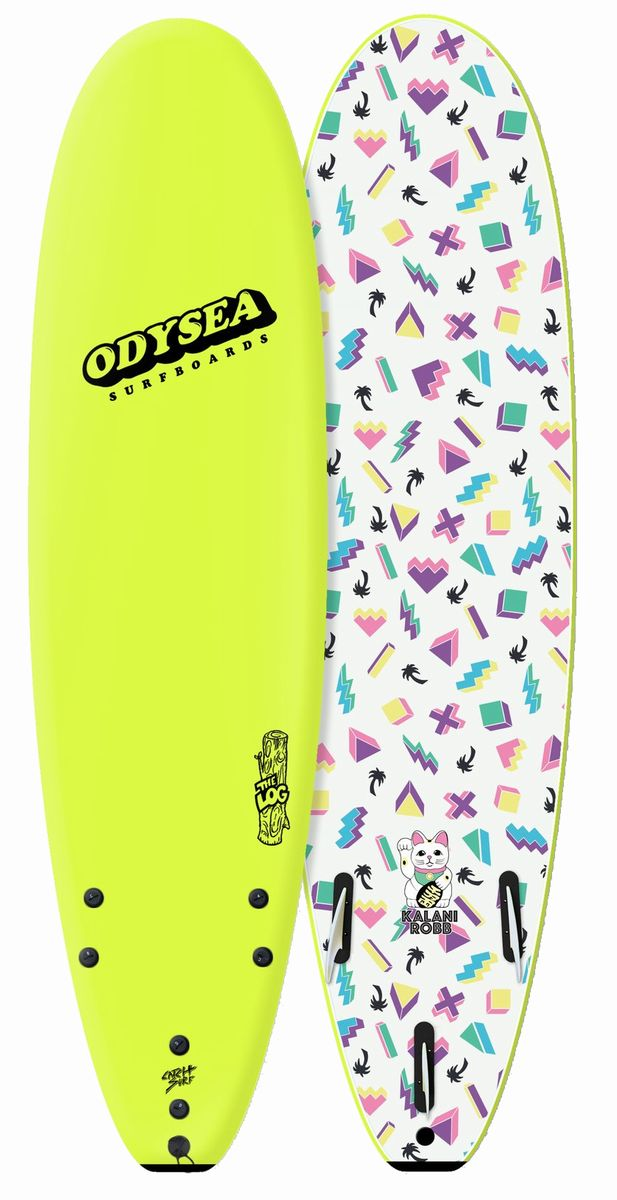 正規品[CATCH SURF/キャッチサーフ] 【ODYSEA/オデシーLOG 】カラニロブ7'0 【ソフトボード、スポンジボード、ファンボード】イエロ