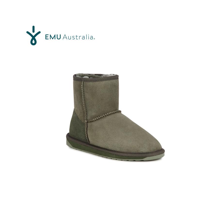 エミュー ムートンブーツ スティンガーミニ 24cm カーキ EMU Australia Sheepskin Boots Stinger Mini Khaki EMUオリジナルBOX入り♪♪【あす楽対応_関東】ポイント20倍