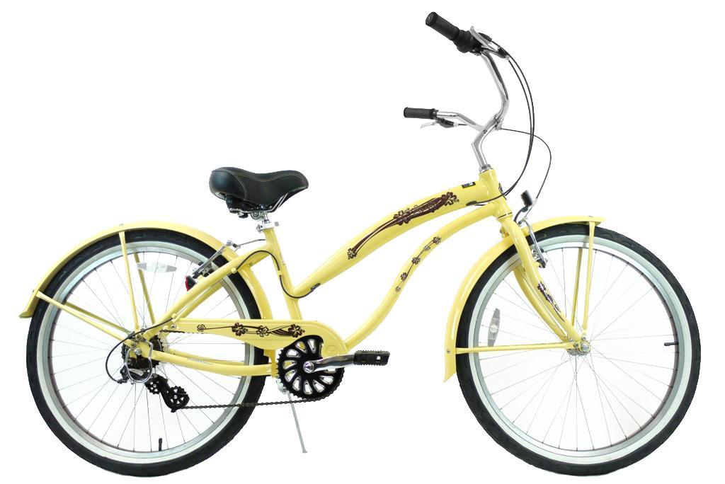 【代引き不可】グリーンライン ビーチクルーザー 26インチ バニラ/ブロンズ Greenline(USA)K7APL 7Speed Vanila/Bronze 自転車