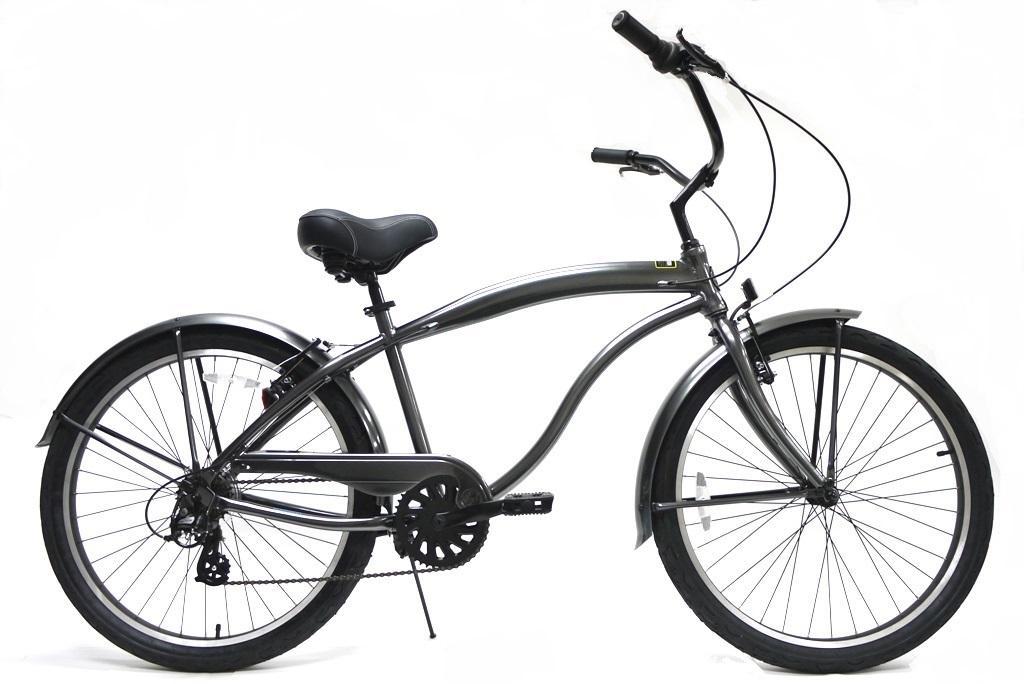 【代引き不可】Greenline K7APM 7 Speed Steel Gray グリーンライン ビーチクルーザー グレー 自転車