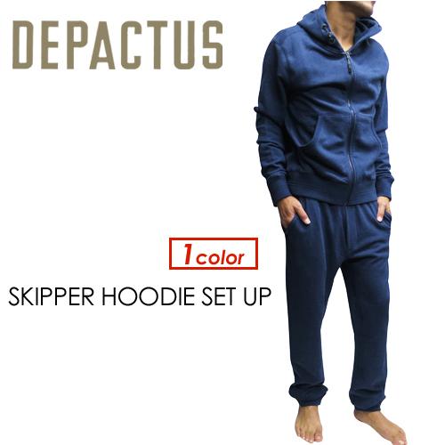 〔あす楽対応〕DEPACTUS,ディパクタス,セットアップ,スウエット,sale●SKIPPER HOODIE SET UP