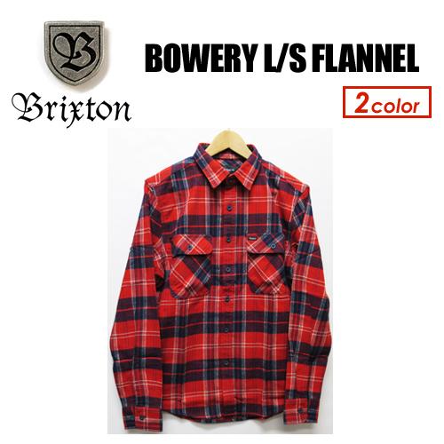 〔あす楽対応〕BRIXTON,ブリクストン,フランネル,ネルシャツ,シャツ,18fa●BOWERY L/S FLANNEL