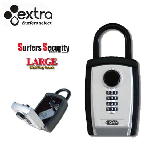 大容量でリモコンキーも収納可能 EXTRA エクストラ 防犯 買い物 セキュリティー メーカー再生品 キーケース キーボックス KEY SURFER'S SEQULITY BOX LARGE CAR