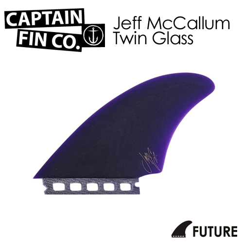 〔あす楽対応〕【送料無料】CAPTAINFIN,キャプテンフィン,FUTURES,フューチャー,ジェフ・マッカラン,ツイン●Jeff McCallum Twin Glass Single Tab