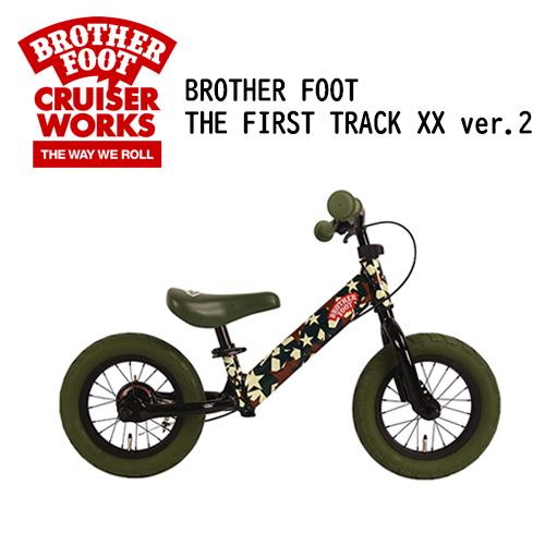 あす楽 送料無料 バランスバイク キックバイク ファーストバイク ブレーキ付キックバイク 子供用 キッズ用,sale●BROTHER FOOT THE FIRST TRACK XX ver.2 CAMO