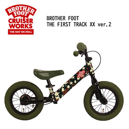 〔あす楽対応〕【送料無料】バランスバイク,キックバイク,ペダル無し,自転車,子供用,キッズ用●BROTHER FOOT THE FIRST TRACK XX ver.2 CAMO