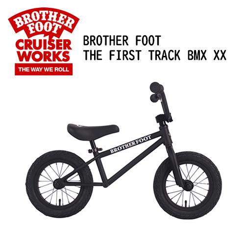 〔あす楽対応〕【送料無料】バランスバイク,キックバイク,ペダル無し,自転車,子供用,キッズ用●BROTHER FOOT THE FIRST TRACK BMX XX MAT BLACK