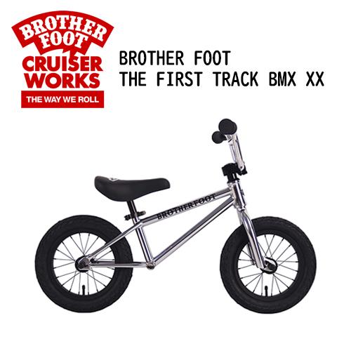 〔あす楽対応〕【送料無料】バランスバイク,キックバイク,ペダル無し,自転車,子供用,キッズ用●BROTHER FOOT THE FIRST TRACK BMX XX SILVER (CP)