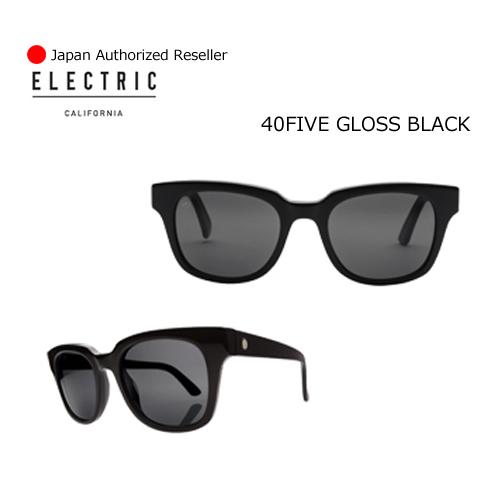 【送料無料】正規代理店,ELECTRIC,エレクトリック,サングラス,アイウェアー●40FIVE GLOSS BLACK-M GREY