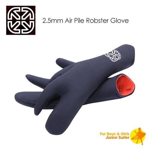 ジュニア ボーイズ用のロブスターグローブ 送料無料 X-tend Gear サーフィン 防寒対策 グローブ Pile ついに入荷 KIDS X-Gear Air Glove Robster 2.5mm ※アウトレット品 子供用