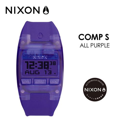 あす楽 送料無料 NIXON ニクソン 腕時計 正規取扱店,sale●COMP S ALL PURPLE