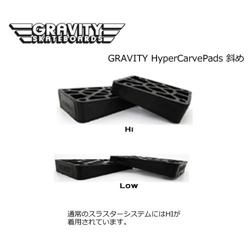 gravity グラビティー スケートボード ライザーパッド メール便対応可●gravity HYPER CARVE Pads