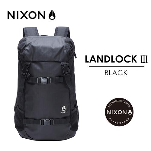 〔あす楽対応〕【送料無料】正規品,NIXON,ニクソン,バックパック,リュックサック●LANDLOCK III BACKPACK BLACK