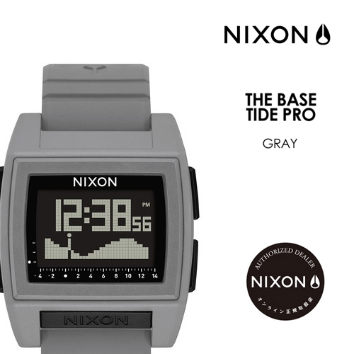 〔あす楽対応〕【送料無料】NIXON,ニクソン,腕時計,正規取扱店,ベース タイド プロ,サーフィン,潮見表●THE BASE TIDE PRO NA1212145-00 GRAY