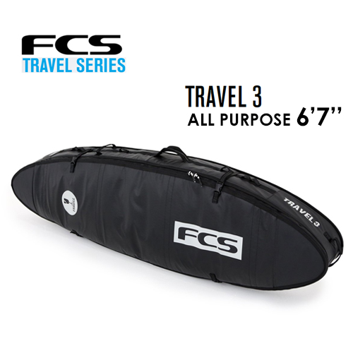 送料無料 FCS エフシーエス サーフボード トリプルケース ハードケース トラベルシリーズ 旅行●TRAVEL 3 ALL PURPOSE 6'7''