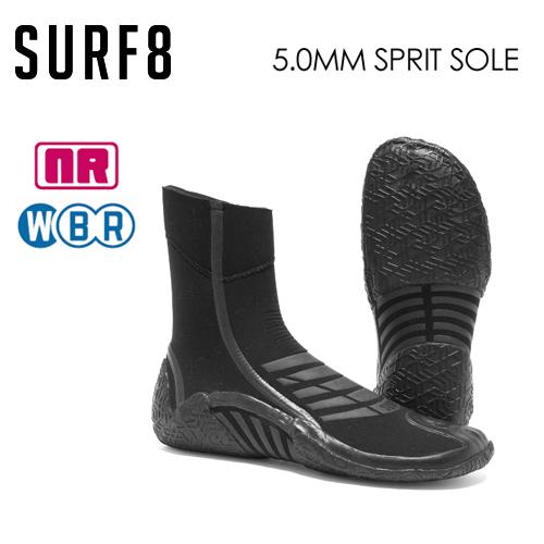送料無料 SURF8 サーフエイト 防寒対策 ブーツ●5mm スプリットソールブーツ 遠赤起毛 NANORED 89F1R3