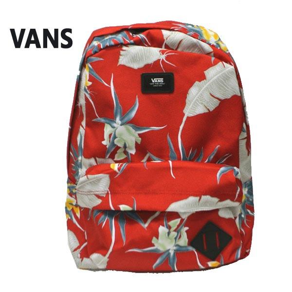 VANS/バンズ ヴァンズ OLD SKOOL 2 BACKPACK RACING RED ARACHNOFLORIA 鞄 リュック バックパック