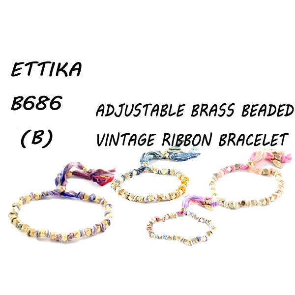 セレブに人気のEttika 新作販売 エティカの新作ブレスレットが入荷しました 値下げしました Ettika ブランド激安セール会場 エティカ Adjustable BrassBeaded Vintage B686 ヴィンテージリボン ブレスレット Bracelet b Ribbon スタッズ_02P01Oct16