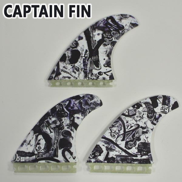 CAPTAIN FIN/キャプテンフィン CHEMISTRY PASER LARGE ST TRI FIN FUTURES/フューチャーズ トライフィン 3本セット サーフボード用フィン 送料無料[返品、交換及びキャンセル不可]