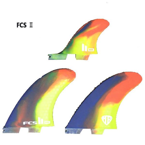 FCS2 FIN/エフシーエス2 MR MARK RICHARDS/マークリチャーズ PC X-LARGE TWIN+STABILIZER TRI PERFORMANCE CORE MULTI COLOR SWIRL ツイン+スタビライザー3本セット サーフボード用フィン 送料無料