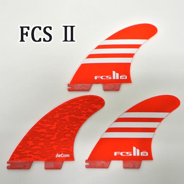 FCS2 FIN/エフシーエス2 JW JULIAN WILSON/ジュリアンウィルソン PC AIRCORE/エアーコア RED/WHITE LARGE TRI FIN/トライフィン3本セット サーフボード用フィン 送料無料