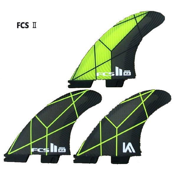 FCS2 FIN/エフシーエス2 KA KOLOHE ANDINO PC GREY/YELLOW MEDIUM TRI-FIN コロヘアンディーノ パフォーマンスコア トライフィン3本セット サーフィン用 送料無料