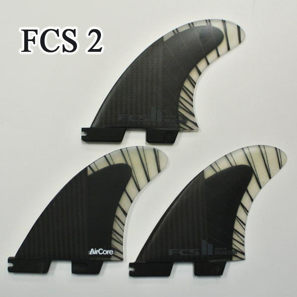 FCS2 FIN/エフシーエス2 REACTOR/リアクター PC CARBON/PCカーボン BLACK/CHARCOAL MEDIUM トライフィン3本セット サーフボード用フィン 送料無料[返品、交換及びキャンセル不可]