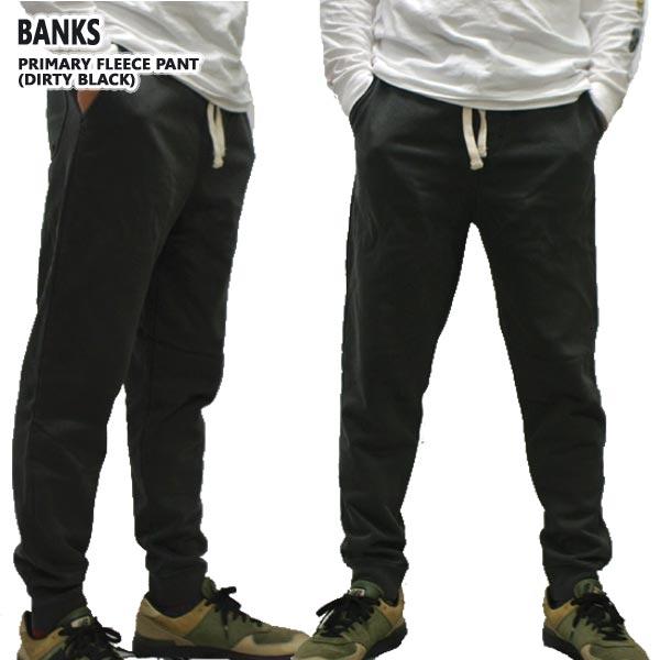 BANKS/バンクス PRIMARY FLEECE メンズ スウェットパンツ DIRTY BLACK ボトムス トラックパンツ