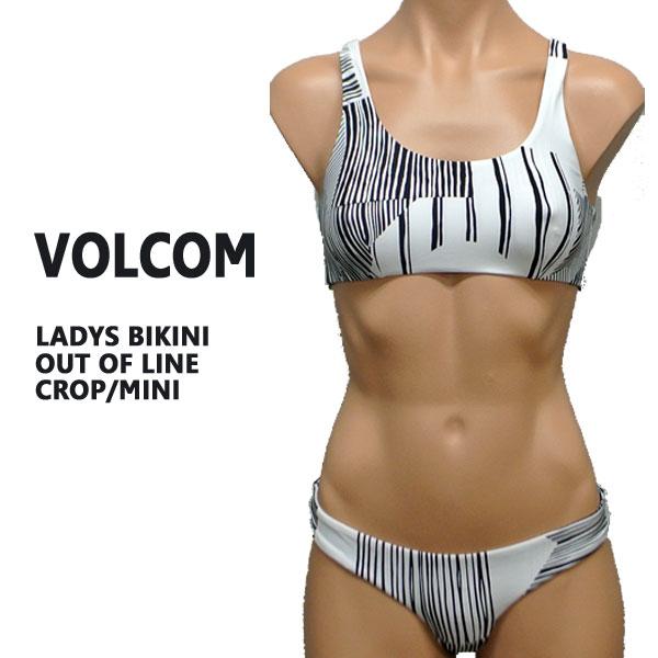値下げしました!VOLCOM/ボルコム 新作レディース BIKINI OUT OF LINE CROP/MINI BLACK 女性用 水着 ビキニ
