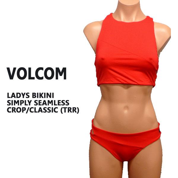 VOLCOM ボルコム 新作レディース BIKINI 訳あり品送料無料 SIMPLY SEAMLESS CROP CLASSIC 水着 入荷 TRR ビキニ 女性用 今ダケ送料無料 値下げしました