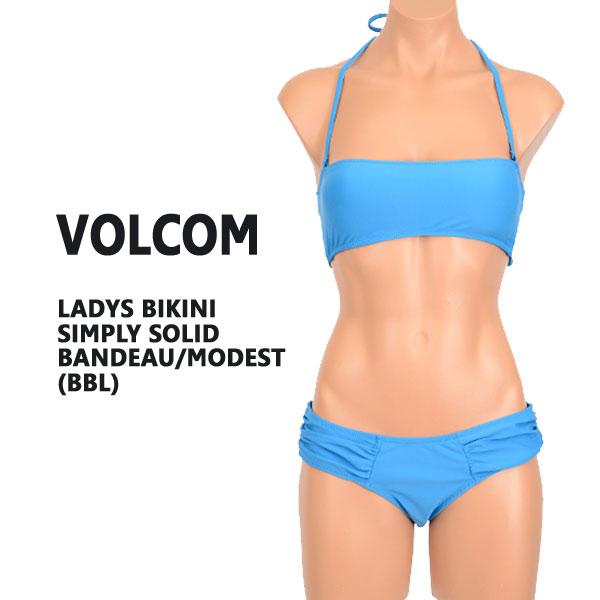 値下げしました!VOLCOM/ボルコム 新作レディース BIKINI SIMPLY SOLID BANDEAW/MODEST BBL 女性用 水着 ビキニ_02P01Oct16:サーフィンワールド店