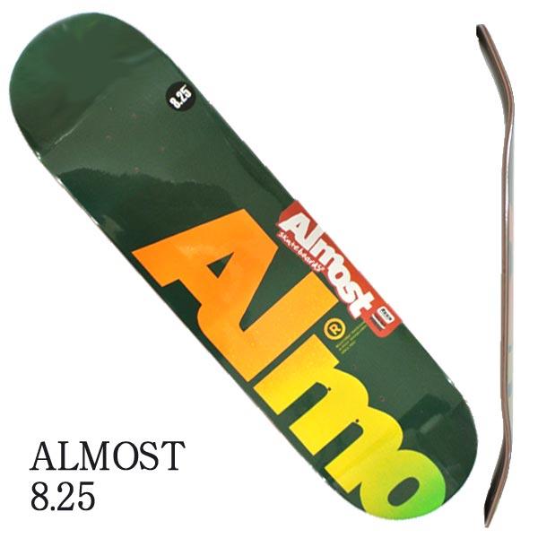 ALMOST 商い オルモスト スケートボード デッキ FALL OFF 贈与 LOGO HYB 交換及びキャンセル不可 GREEN 入荷 返品 スケボーSK8 8.25 DECK