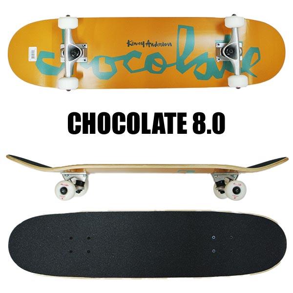 CHOCOLATE チョコレート コンプリートスケートボード スケボー 商品追加値下げ在庫復活 ANDERSON CHUNK X-LARGE 8.0 8.0x31.875 COMPLETE 返品 SK8 入荷 絶品 交換及びキャンセル不可 G008