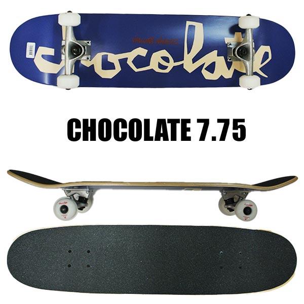 CHOCOLATE チョコレート コンプリートスケートボード スケボー ALVAREZ CHUNK LARGE 7.75 日時指定 AL完売しました G009 SK8 返品 入荷 交換及びキャンセル不可 COMPLETE 7.75x31.125