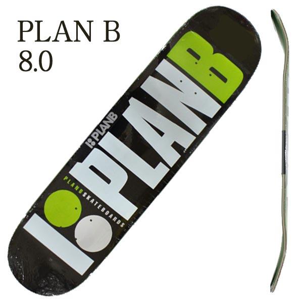 PLAN B メーカー直送 プランビー TEAM GREEN 8.0x31.75 DECK SK8 スケボーデッキ 定価 交換及びキャンセル不可 入荷 スケートボード 返品