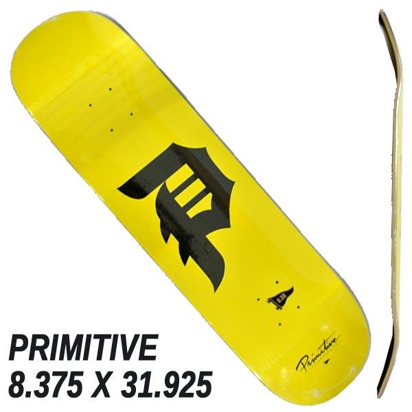 PRIMITIVE プリミティブ DIRTY P YELLOW 8.375x31.925 DECK 特価品コーナー☆ SK8 特価キャンペーン P-ROD スケートボード 入荷 スケボーデッキ 返品 交換及びキャンセル不可