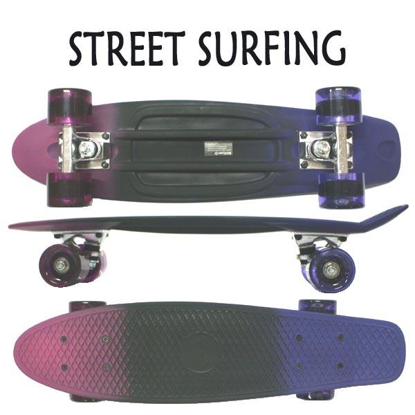 STREET SURFING ストリートサーフィン PLASTIC CRUISER BEACH BOARD SPECTRUM BLACK LIGHT ミニクルーザー 交換及びキャンセル不可 ショート スケボー スケートボード 返品 入荷 ミニ SK8 値下げしました ◆セール特価品◆ 6.3x22.5 メーカー公式ショップ