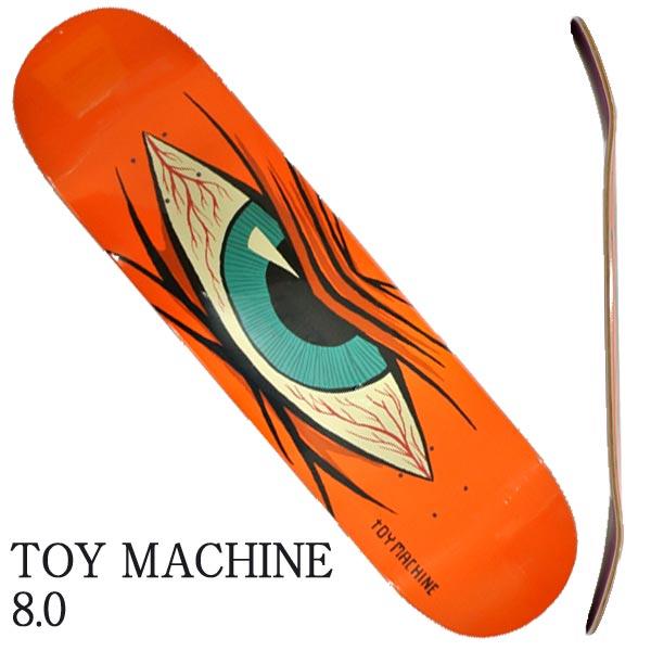 TOY MACHINE トイマシーン MAD EYE 8.0x31.63 ORANGE SK8 スケートボード スケボーデッキ 上品 返品 交換及びキャンセル不可 入荷 DECK 新商品