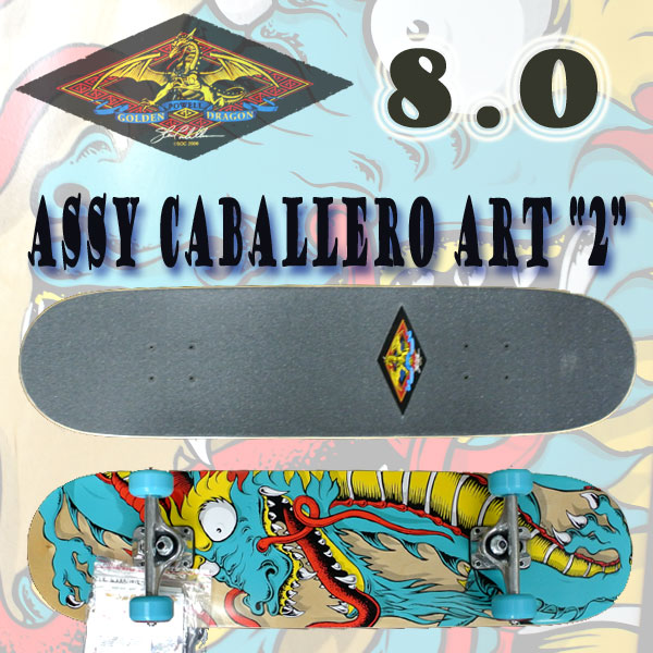 POWELL   Powell series complete skateboard GOLDEN DRAGON CABALLERO ART2 8.0 SKATEBOARDS  skateboard completed SK8 02P01Oct16 751f00cd2b6