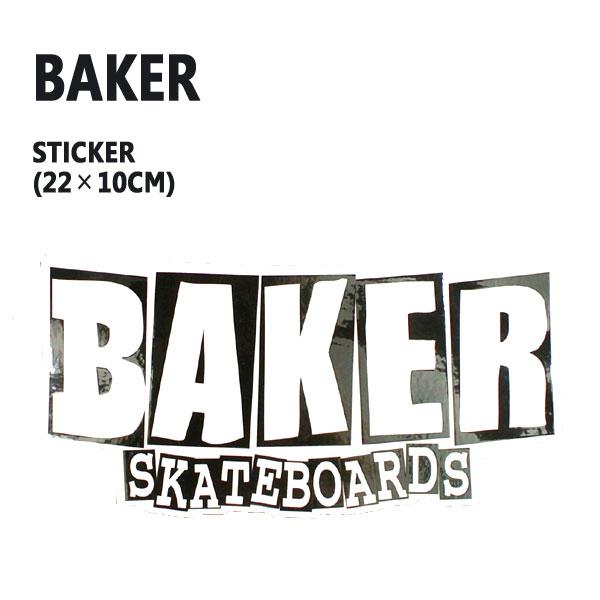 BAKER ベイカー オンラインショッピング LOGO XL STICKER スケボー 爆買い送料無料 入荷 シール ステッカー