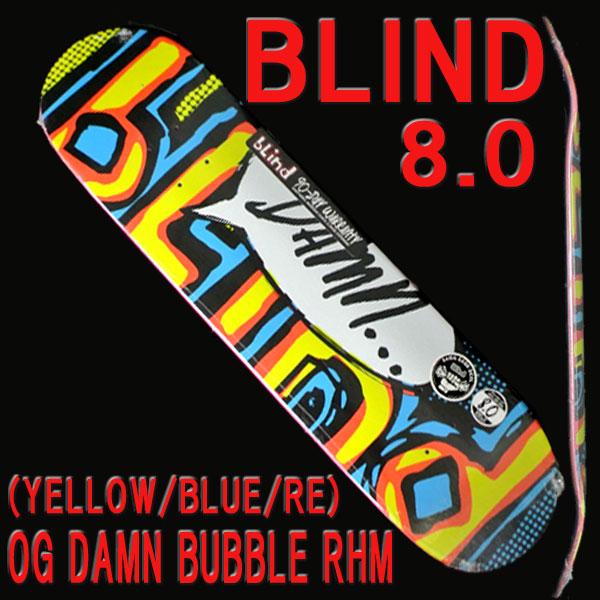 2d382ac11d1 楽天市場 BLIND ブラインド スケートボード デッキ OG DAMN BUBBLE RHM ...