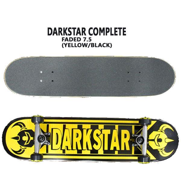 DARK STAR/ダークスター コンプリートスケートボード/スケボー FADED 7.5 YELLOW/BLACK 送料無料 SKATEBOARDS スケボー 完成品 SK8_02P01Oct16