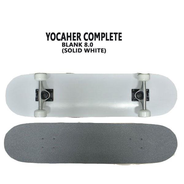 完成品 SK8 スケボー スケボー BLANK COMPLETE SKATEBOARD SOLID BLACK 8.0 YOCAHER コンプリートスケートボード/